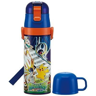 2voies Bouteille en acier inoxydable Bouteille d'eau avec tasse 470ml Pokémon Soleil et Lune Skdc 4