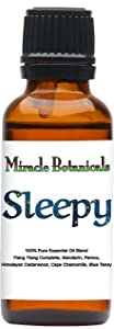 Miracle Botanicals Sleepy Essential Oil Blend - 100% Pure Therapeutic Grade Essential Oils - 30ml