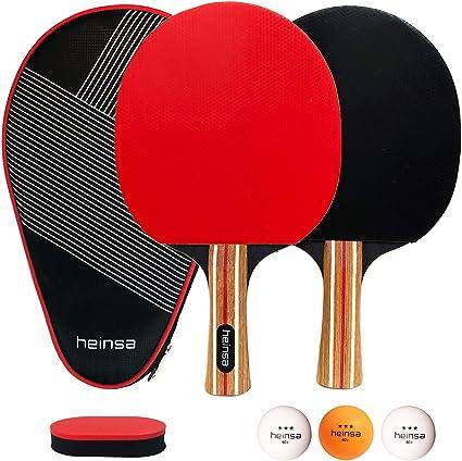 Tischtennis Set 2 Tischtennisschläger Set mit 3 Ping-Pong Bällen