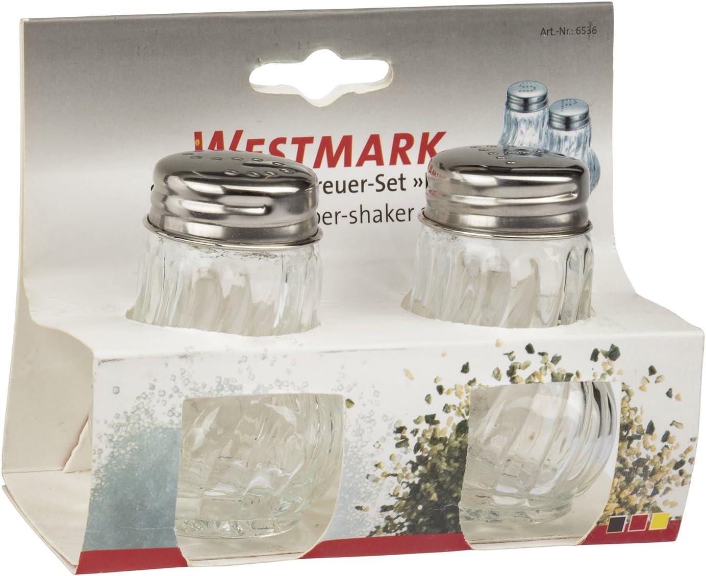 Westmark 65362270 Set Salt /& Pepper Shaker Berlin A Glass