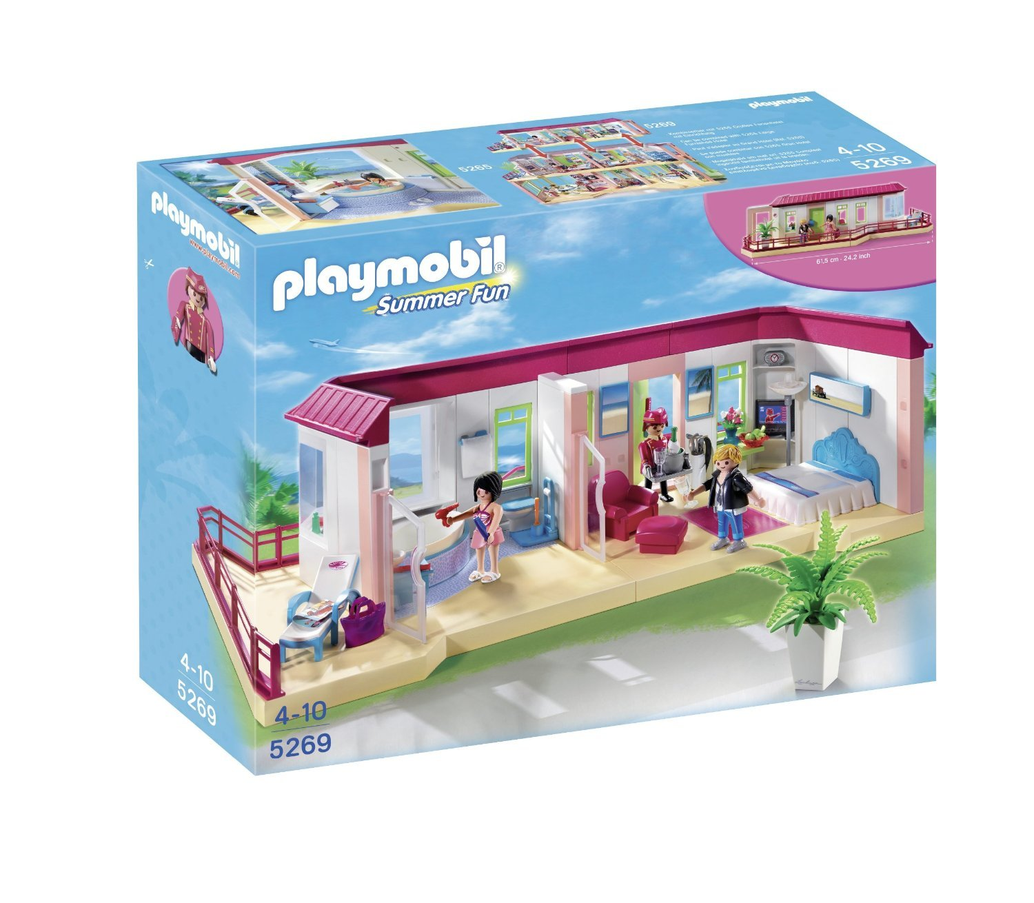 Image gallery playmobil hotel for Salle bain playmobil