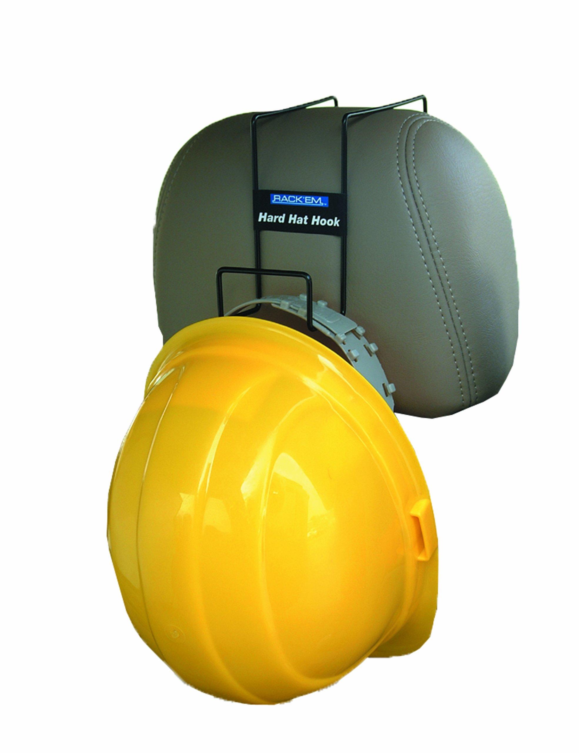 Horizon 5002 Sturdy Steel Over The Seat Hard Hat Rack, 2-1/2'' Width x 2-1/2'' Height x 2'' Depth