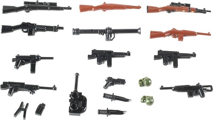 paquete de armas clásico de la segunda guerra mundial armas De Lego Personalizado 26 un