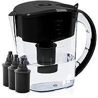 BU-KO Jarra de Agua alcalina DE 3,5 litros, Ionizador de Agua Pura y Saludable, 3 Cartuchos de Filtro incluidos, PH Test Strip BPA