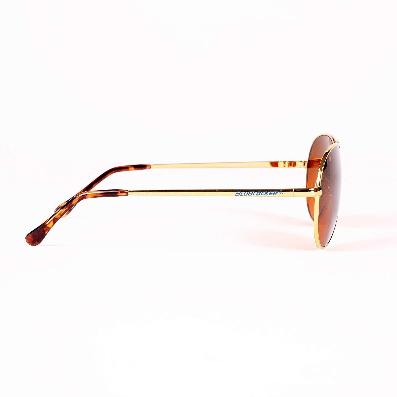 Blublocker Occhiali da sole aviatore filo Oro