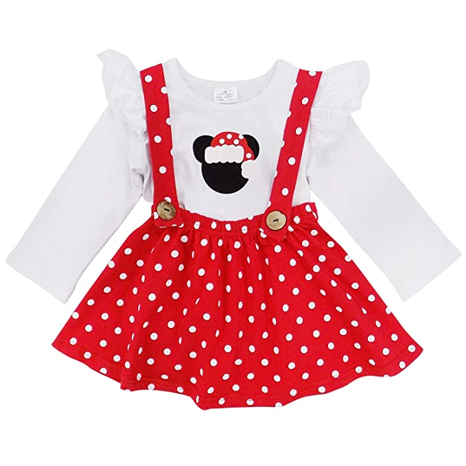 6e207bf0b9fd0 Amazon.com  So Sydney Girls Toddler Pink or Red Minnie Mouse Kids Boutique  Dress or Outfit  Clothing