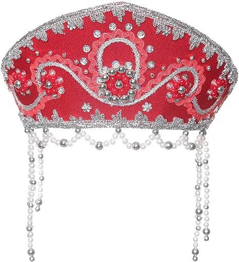 Disfraz folklórico ruso tradicional - Tocado Kokoshnik rojo #934 ...