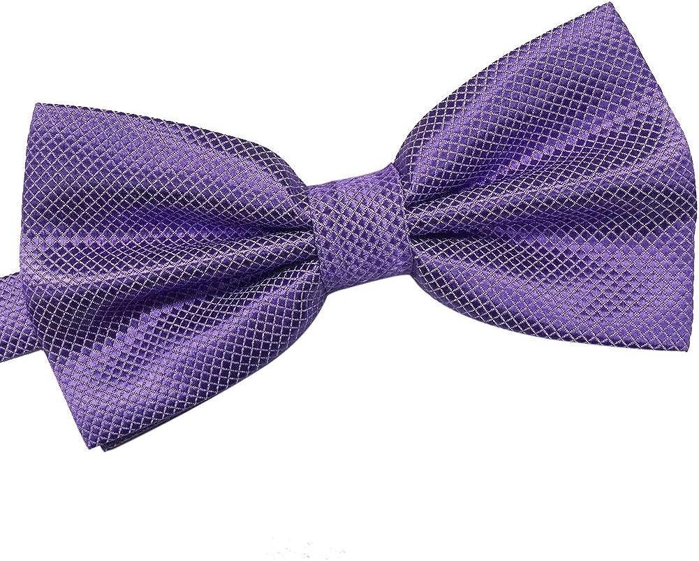 AINOW Adjustable Solid Tuxedo Pre-Tied Bowties Mens Cotton Neck Tie Bow ties