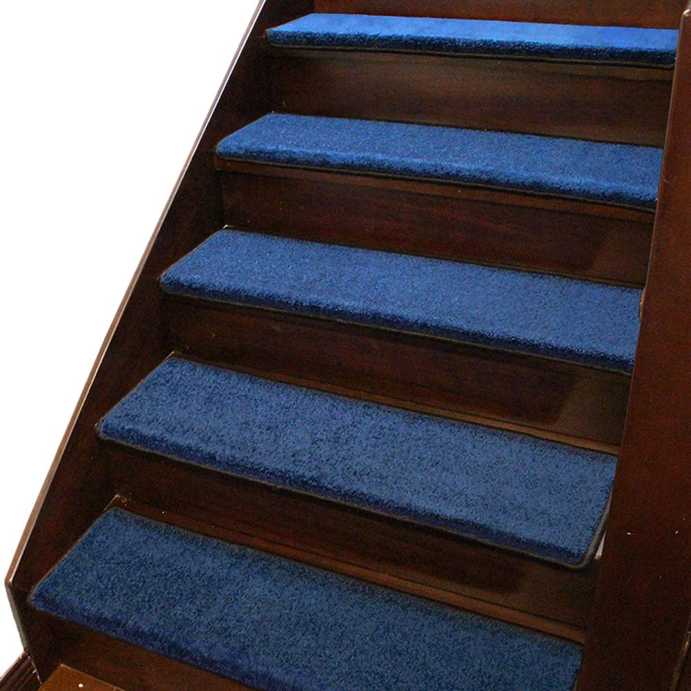 青い正方形区域敷物、全シリコーンの自吸式の階段マットのためのデザイナー屋内階段カーペット (色 : Set of 13, サイズ さいず : 75x24x3cm) 75x24x3cm Set of 13 B07MP33471
