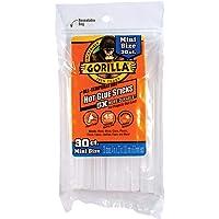 """Gorilla Hot Glue Sticks, Mini Size, 4"""" Long x .27"""" Diameter, 30 Count, Clear, (Pack of 1)"""
