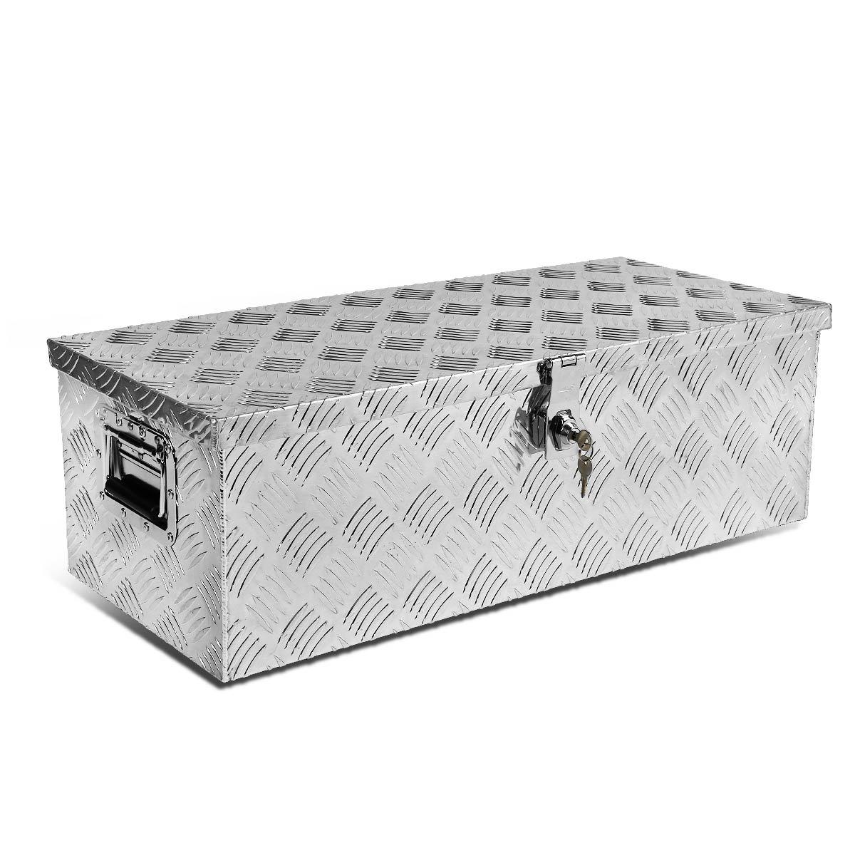 DNA Motoring TBOX-T1-30-ALU-BK 30x13x10 Aluminum Truck Tool Storage Box w//Lock /& Keys