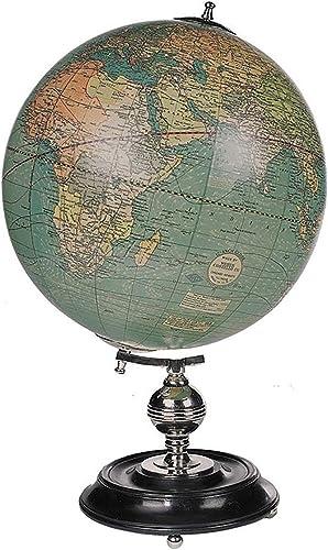 Authentic Models, Weber Costello, Vintage Desktop World Globe, Decorative Globe,Ebonized Rosewood Stand