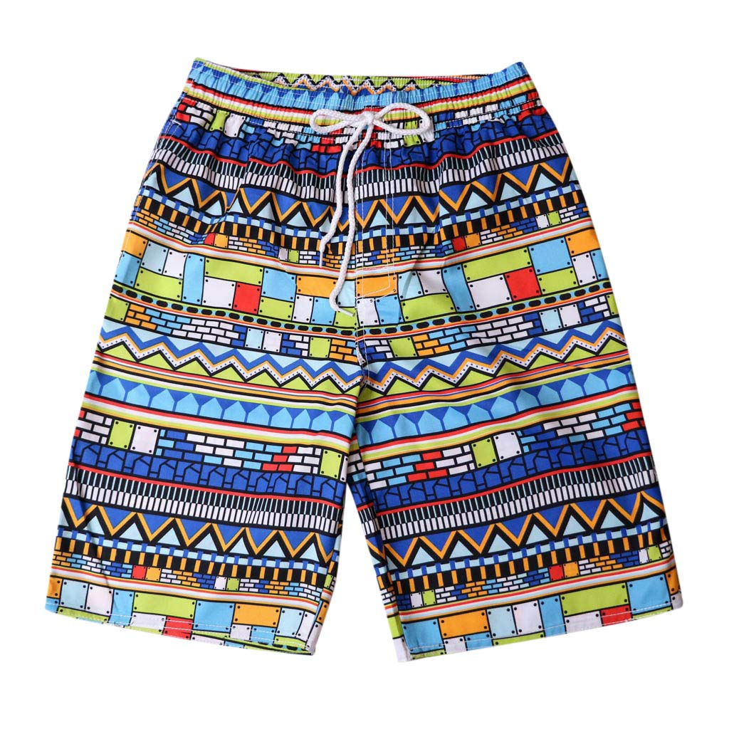 HHei_K Fashion Lovers Men Coloured Print Surf Beach Shorts Leisure Quick Dry Swim Trunks Surfing Running Swimming Pants