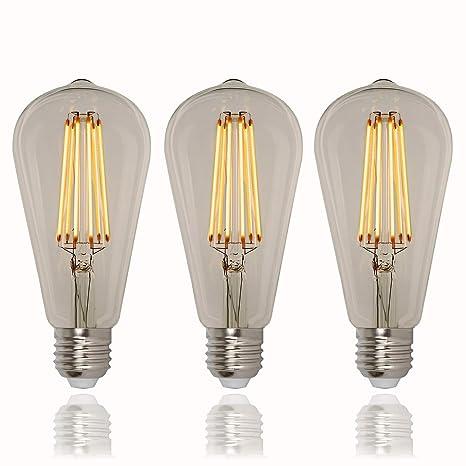 Bombilla LED Edison regulable vintage de 6 W (60 W) – Jaula de ardilla