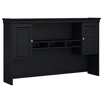 Bush Furniture Fairview Hutch for L Shaped Desk in Antique Black - Amazon.com: Bush Furniture Fairview Hutch For L Shaped Desk In