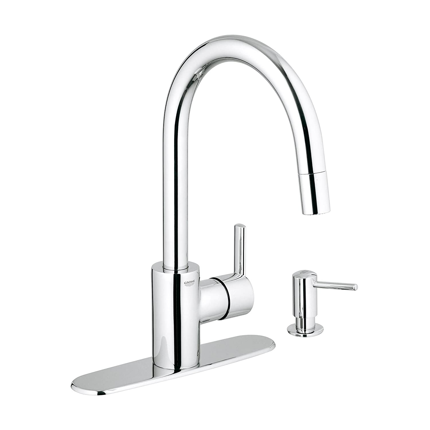 grohe 30126dc0 feel kitchen pull down supersteel value pack
