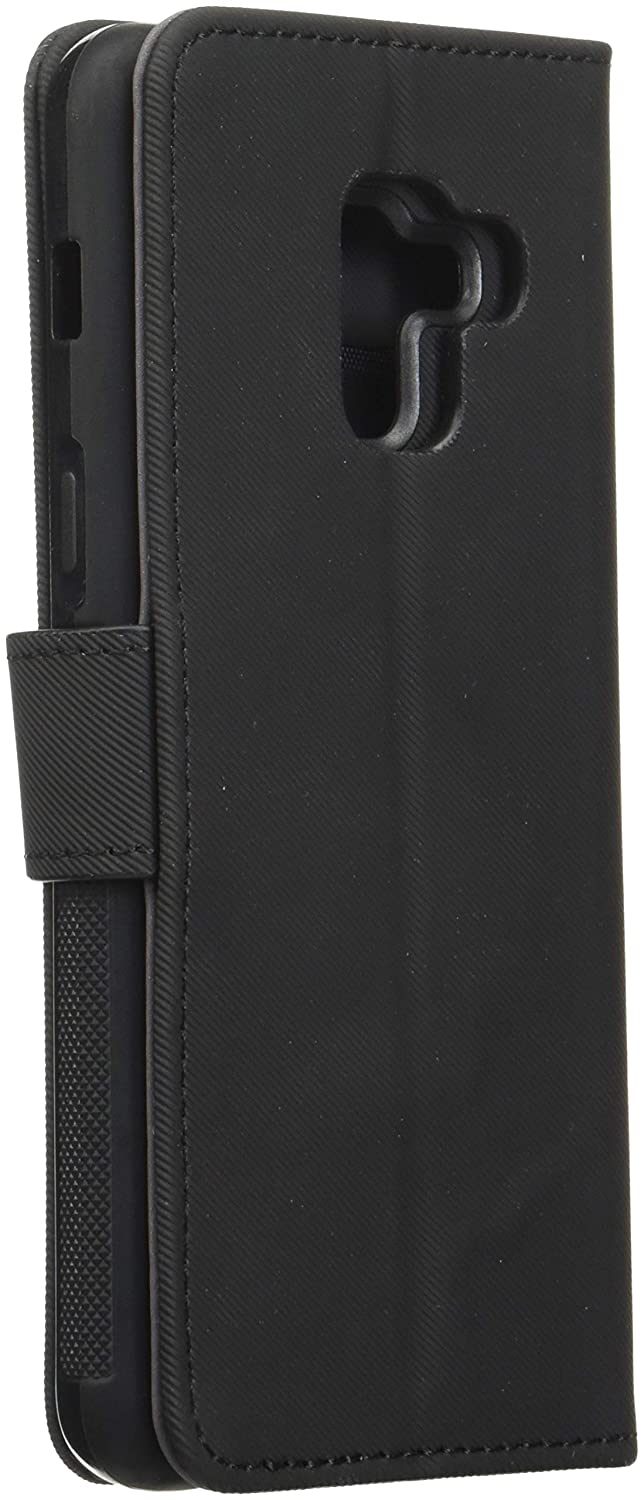 Carbon Black Anti-Slip Grip Magnetic Detachable Wallet Card Slots LBT Switch Wallet Case for Samsung Galaxy A8 with Magnet Vent Holder Compatible with Magnetic Car Mount case