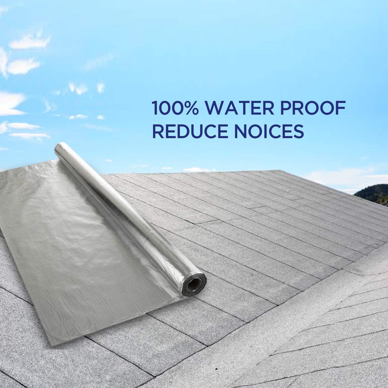 24 m/² de cobertura Barrera de vapor y membrana impermeable SFTV1L lofts techos 100/% resistente al agua suelos 1,2 m x 20 m aislamiento t/érmico de l/ámina para paredes