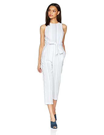 afc12cad1f6a Amazon.com  ASTR the label Women s Presley Stripe Cutout Sleeveless Casual  Jumpsuit  Clothing