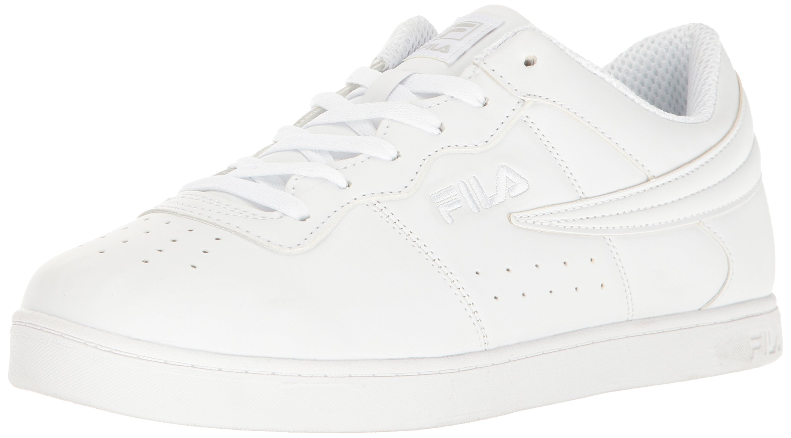 2432ba9280 Galleon - Fila Men's 13 Low Indoor Court Shoe, White/White/White, 9.5 D US