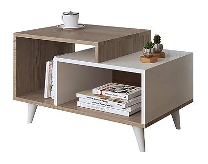 Tavolini Da Salotto Moderni Design.Homidea Sage Tavolino Basso Da Salotto Tavolino Da Divano Tavolino Da Caffe Moderno In Un Design Alla Moda Avola Bianco