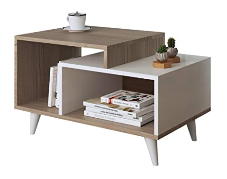 Tavolino da salotto set bianco skandinavises design fase lungo