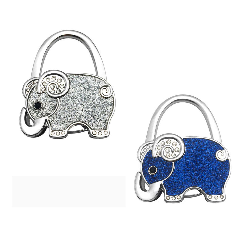GuaziV Theme Designed Shoulder Handbag Folding Purse Holder Hangers Hooks Set(Elephants) (Style 2)