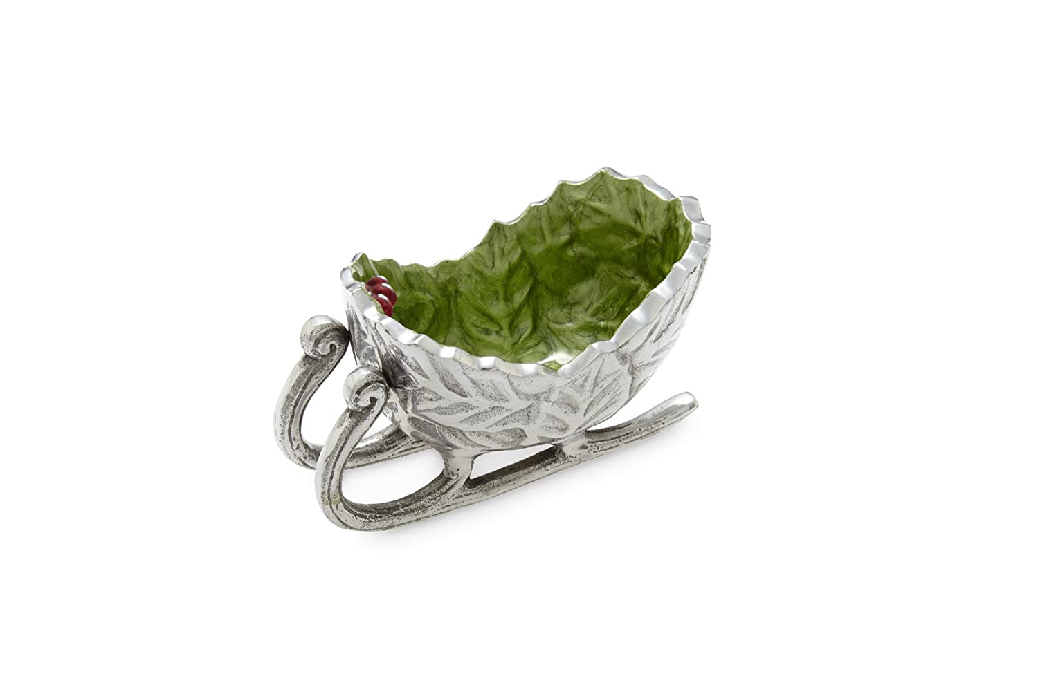 Holly Sprig Petite Mojito Green Sleigh Bowl