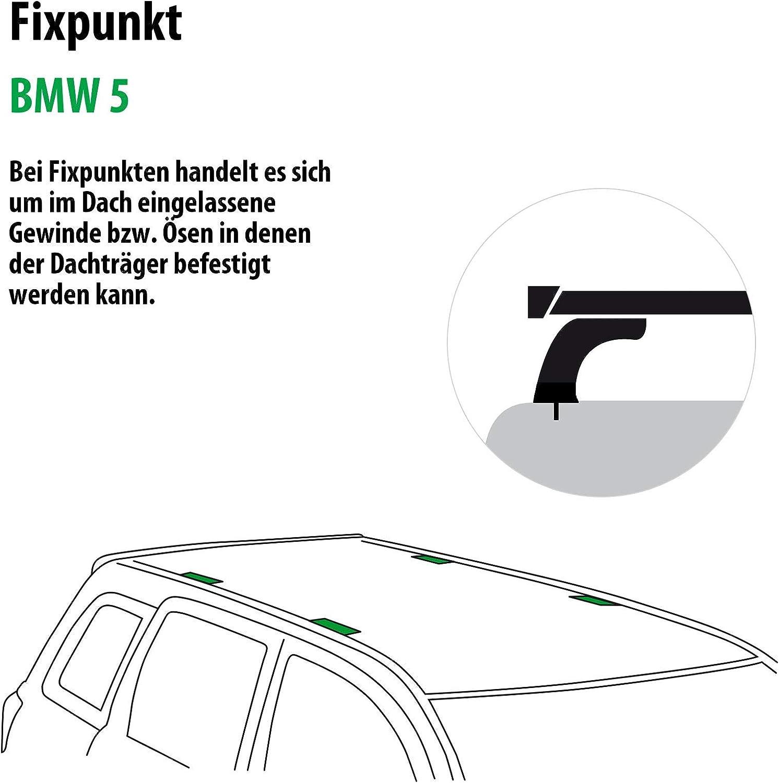 Rameder Komplettsatz Dachtr/äger Tema f/ür BMW 5 118878-37157-1