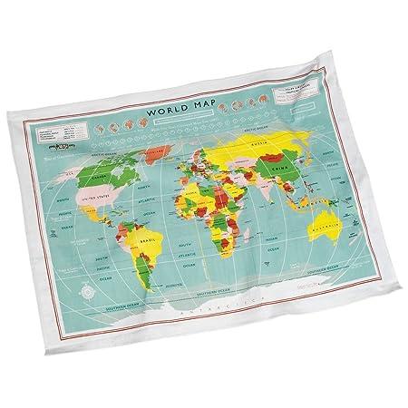 Dotcomgiftshop vintage world map cotton tea towel in gift box dotcomgiftshop vintage world map cotton tea towel in gift box gumiabroncs Image collections