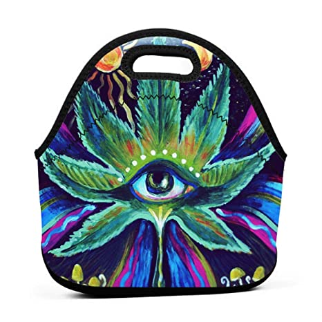 4bc5b25d2237 Amazon.com : FunkyFunnyFun Fashion Portable Lunch Bag Marijuana Weed ...