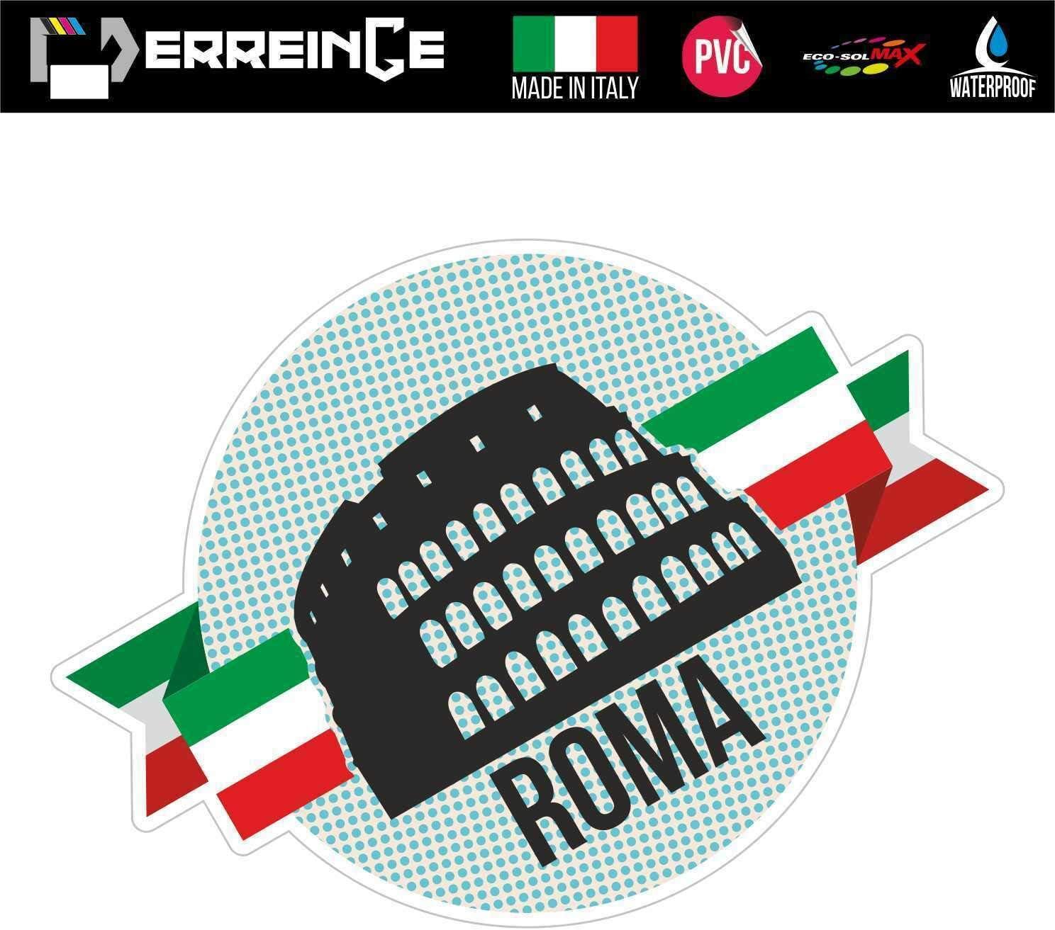 Sturzhelm Roller Portable Wand ERREINGE Sticker ROM COLISEUM ITALIEN SOUVENIR Aufkleber geformtes PVC f/ür Abziehbild Wohnmobil cm 10 Motorrad Auto