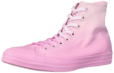 9cf629175cda Converse Women s Unisex Chuck Taylor All Star Dip Dye High Top Sneaker Foam  Pink Rise