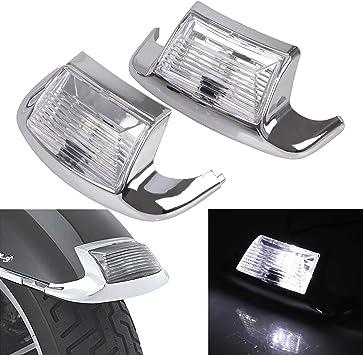 Motorcycle Clear Front /& Rear Fender Tip LED Light Trim For Harley Davisdson Electra Glide Road Glide Road King