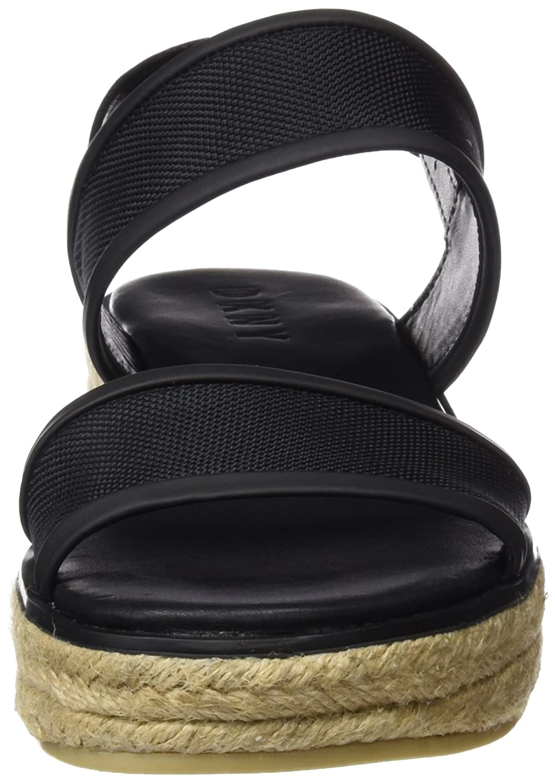 DKNY - Shana Sling Back Espadrille, Espadrille, Espadrille, Zeppa Piatta Donna  Nero (Black 001) 1231e9