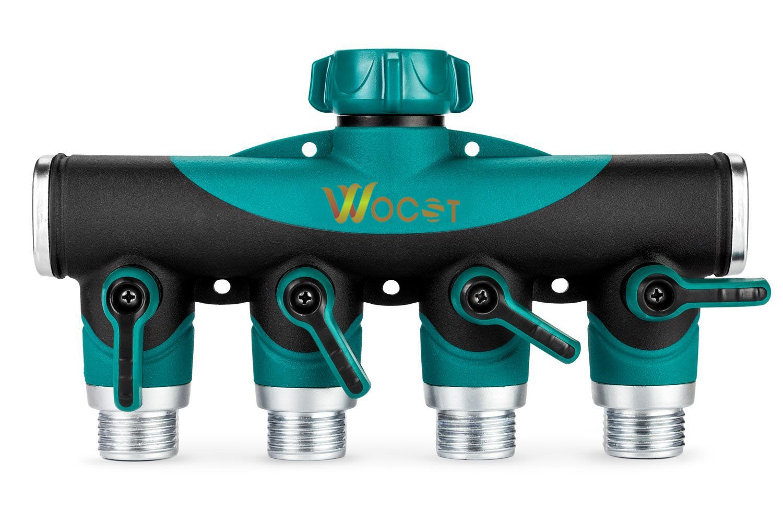 Amazon.com : 4-Way Garden Hose Splitter Fits With Outdoor Faucet ...