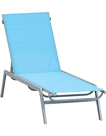 Transat chaise longue jardin dossier réglable coussin pare-soleil bai OCCASION