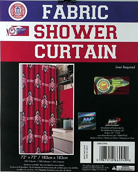 Image Unavailable Not Available For Color Northwest NCAA Ohio State Buckeyes Shower Curtain