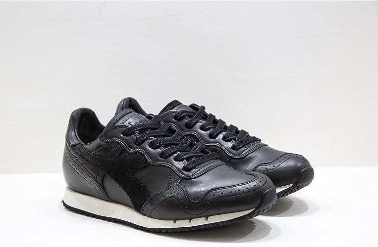Diadora Heritage Trident Brogue L Black Sneakers in Pelle di