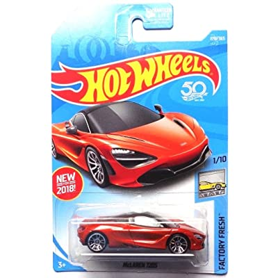 Hot Wheels 2020 50th Anniversary Factory Fresh McLaren 720S 178/365, Orange: Toys & Games