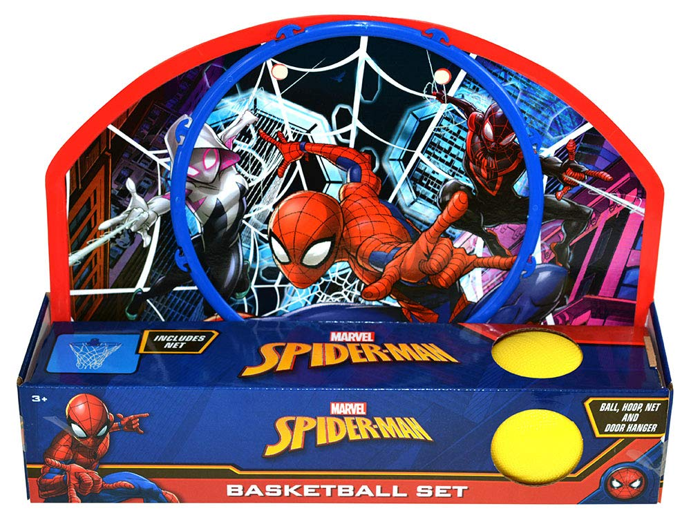 Spider-Man Basketball Set, Turbo Copter, Disc Launcher, and Stickerpad Bundle by Clever Home (Image #3)