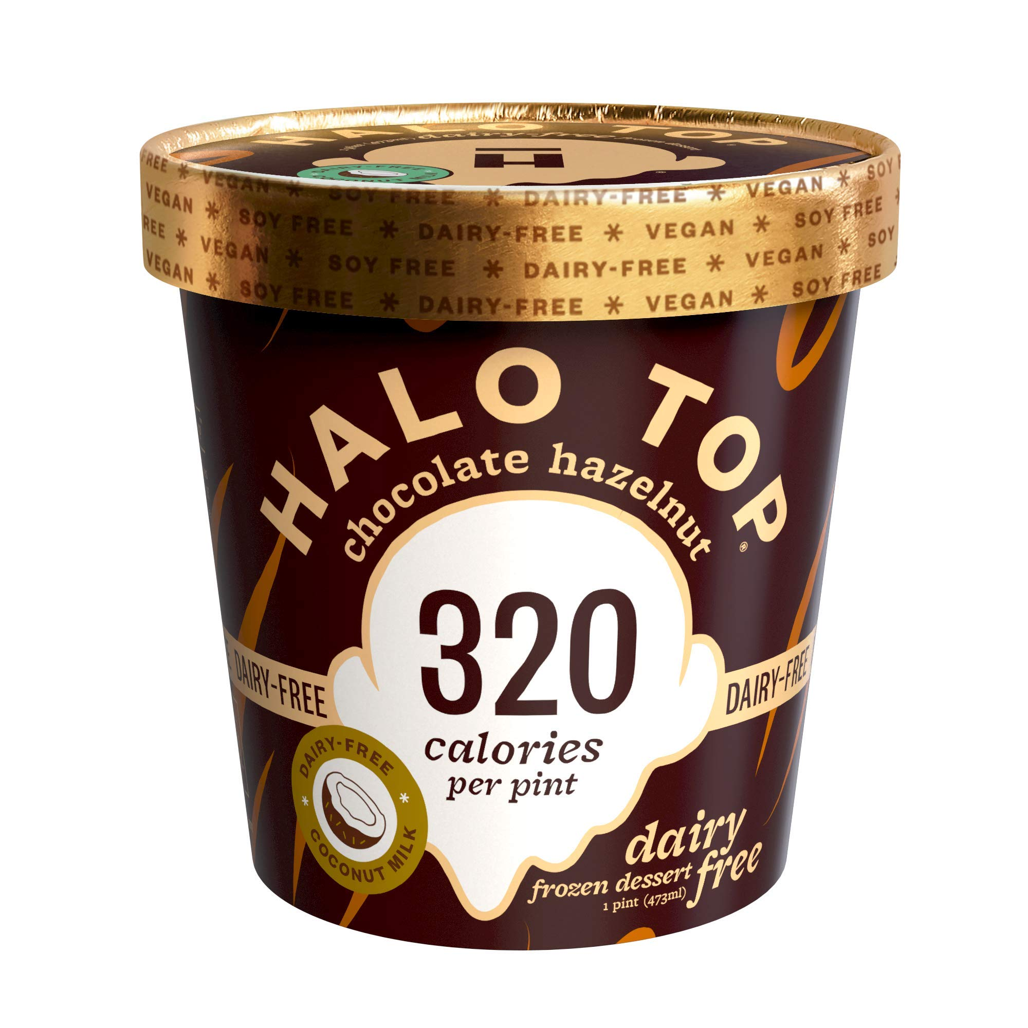 Halo Top, Dairy-Free Chocolate Hazelnut, Pint (8 count)