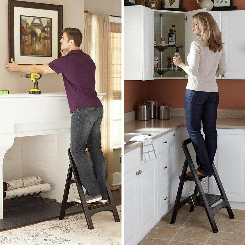 Fine Amazon Com Kitchen Step Stool Wood Step Stool Bed Step Home Remodeling Inspirations Propsscottssportslandcom