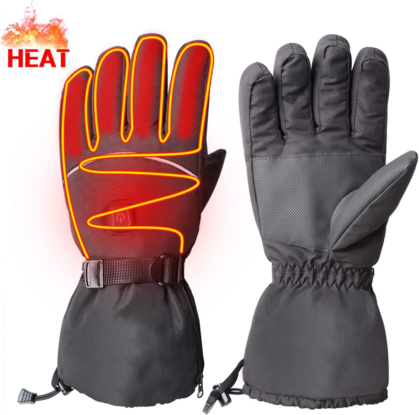 GMAYOO Electric Heated Gloves for Men Women, 3 Levels Temperature Control Thermal Gloves Hand Warmer for Hiking Skiing Cycling Hunting