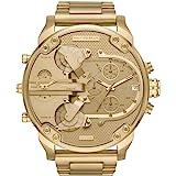Diesel Men's Mr Daddy 2.0 Quartz Stainless Steel Chronograph Watch, Color: Gold-Tone (Model: DZ7399)