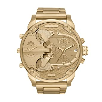 60d6226685 Diesel Men's Mr Daddy 2.0 Quartz Stainless Steel Chronograph Watch, Color:  Gold-Tone