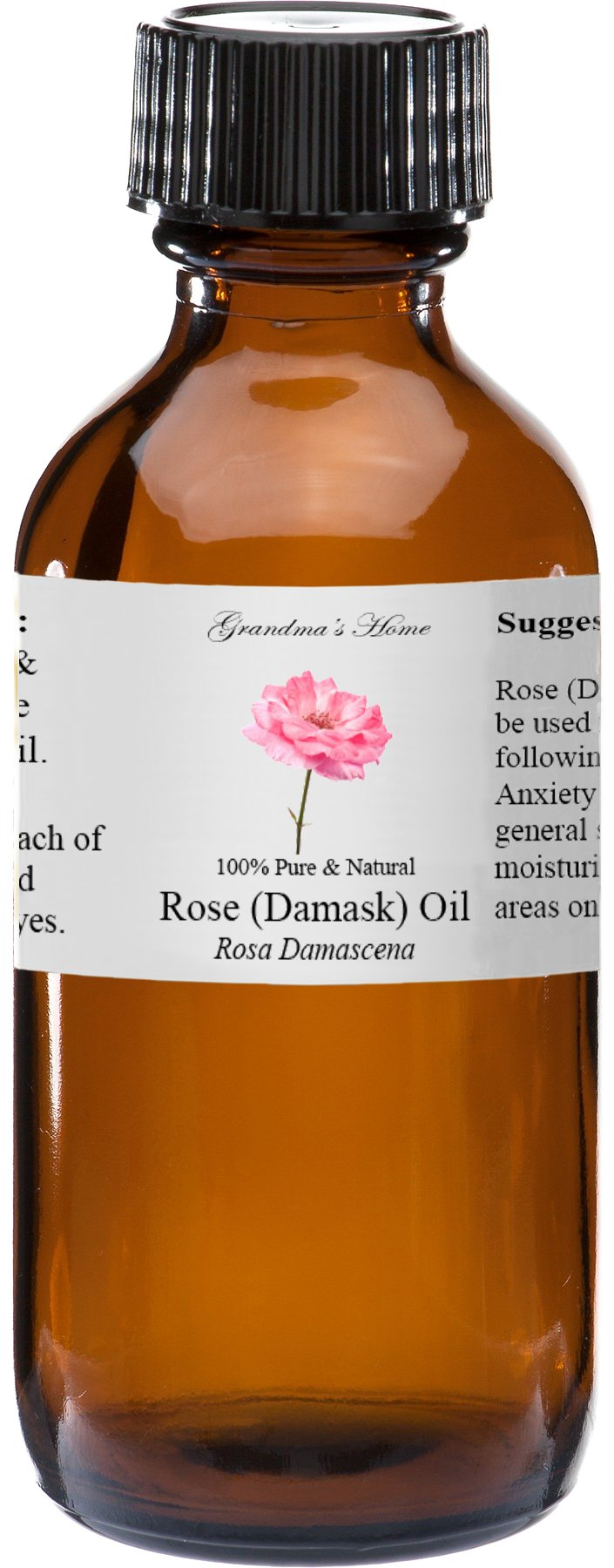 Rose Essential Oil - 2 fl oz -100% Pure and Natural - Therapeutic Grade - Grandma's Home by Grandma's Home