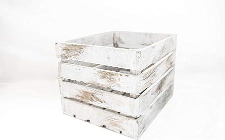 Caja de Madera Blanca Vintage Sam, Pino, 1 Unidad, Caja ...