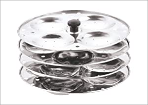 Vinod Stainless Steel 4-Rack Idli Stand, Makes 16 Idlis