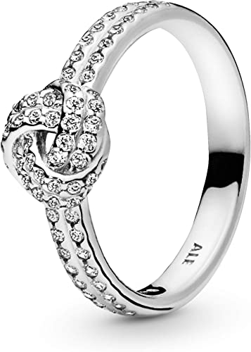 Amazon Com Pandora Jewelry Shimmering For Women Knot Ring For